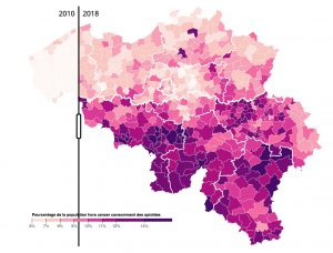 Belgiums' opiods consumption 2010 to 2018